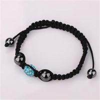 Turquoise color shamballa fashion jewelry crystal charming disco ball bead jewel for women and men shamballa bracelets