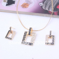 new arrival wholesale gift  2013Fashion  18K Gold Plated necklaces & pendants earring Wedding Bridal accessories Jewelry Set