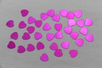 500 Pink heart-shaped wedding table confetti foil sequins scattered parties