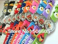 Free & drop Shipping 10pcs/lot  Retail Wholesale cute 3D Cartoon Fashion Gift Watch Children kids Students Quartz Wristwatch