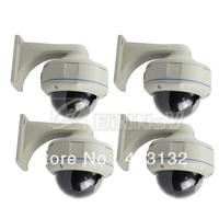 4PCS Effio Sony CCD 700TVL Color 3.5-8mm CCTV Waterproof Dome Security Camera E71