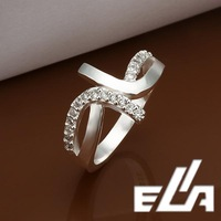 925 Silver Ring With Austrian Crystals Nickel Free Health Jewelry Simulated Diamonds For woman Rings
