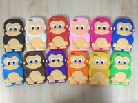 New Hot Animal Monkey style soft silicone cell phone case for iphone 5c case cover 20pcs/lot free shipping