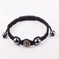 Grey clay crystal jewelry fashion shamballa bracelets,charm disco ball bead Rhinestone Crystal Fashion Jewelry Shamballa