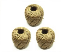 Free Shipping !3pcs/lot DIY Natural Hemp Rope Jute Twine 2 Ply Decorative Handmade Accessory 75yards/pc