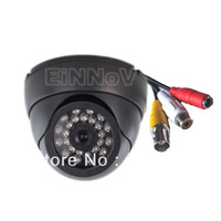 Sony CCD 600TVL Color 24 IR Leds Wide Angle CCTV Audio Camera Black S03UB-A