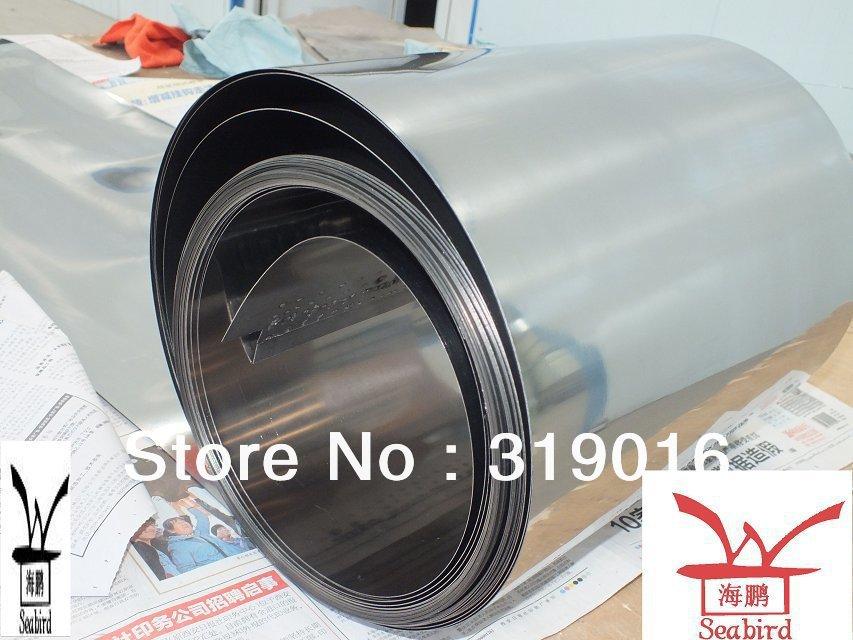 Thick 0.05x 160 x 2400mm Titanium foil Grade 2 Pure Titanium Foil in coil(China (Mainland))
