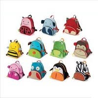 Free Shipping Mini Oxford Cute Kid children Backpack Zoo Cartoon Animal Toddlers Backpack School Bags Children's School Bags #12