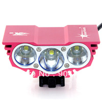 CREE XM-L U2 x3 Bicycle Light HeadLight 6000LM 4 Mode Bike Front Light LED HeadLamp With 8.4v 6400mAh Battery Pack & Charger
