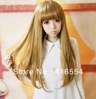 Wig girls curl hair fluffy pear slightly curled wig repair long hair free shipping fashion wig