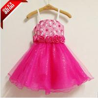 Children's clothing princess dress skirt one-piece dress flower girl dress skirt wedding dress puff skirt dress