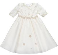 Princess dress child fifth sleeve half sleeve long-sleeve dress flower girl dress full dress one-piece dress
