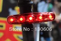 Free shipping 5LED bike light bicycle taillights mountain bike long red warning lights flashing bicycle light bicycle lamp