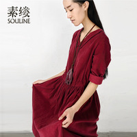 [LYNETTE'S CHINOISERIE - SULV ] formal vintage medium-long female sl432335 one-piece dress