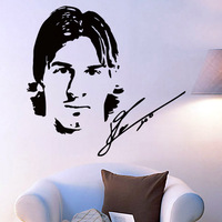 Free Shipping High quality Carved(not print) wall decor decals home stickers art PVC vinyl Football star  Messi Z-83