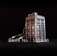 Free shipping! Wholesale lots the Doctor Who Tardis Keychain