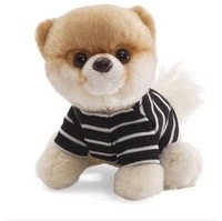 Free Shipping gift The GUND genuine teddy bear plush toy dog super boo, pretty interface of stripe leung doll doll