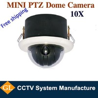 free shipping 10X Optical zoom,SONY CCD,4inch 600TVL ptz dome camera