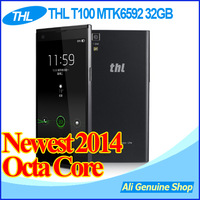"DHL Free Shipping,THL T100 Octa Core MTK6592 Android 4.2 1.7Ghz 2GB RAM 32GB ROM 5.0"" IPS 1920x1080 13Mp camera phone + gifts"