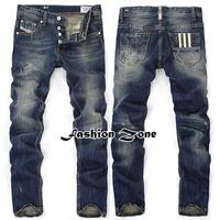 New 2014  Fashion Famous Brand Men's Jeans,Plus Size Designer Straight Denim Slim Fit Ripped Jeans Men