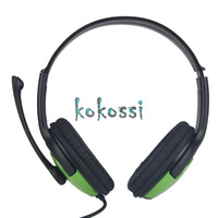 High Quality Wired Two- Sides Big Headphone for PS3 Black and Green Free Shipping