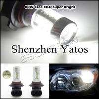 2pcs 80W H11 High Power cree Headlight Led Vehicles Car Fog Light