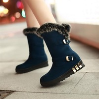 Autumn and winter fashion hasp wedges fashion women's shoes thermal snow boots
