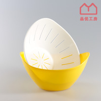Pinyou Home, Creative household items, Fruit bowl, Drain basin, made in Japan, large capacity, PP, D5337, 3 COLOR