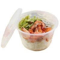 10 packaged bowl disposable 500 plastic bowl plastic soup bowl lunch box 100
