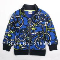 Free shipping 5pcs/lot children clothing boy jacket boy cartoon winter coat  boy bicycle  outerwear boy winter outfit