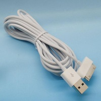 30pin cables 3M USB Data Charger cable adapter cabo kabel for samsung galaxy tab 10' P7500 ,for ipad iphone 4 4s ipod white