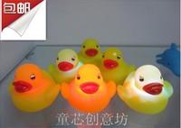 Luminous ducks floating duck colorful led flash duck luminous water