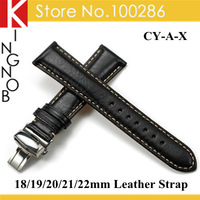 Handmade Genuine Calfskin Watchband 18mm 19mm 20mm 21mm 22mm Leather Straps Watches Free shipping