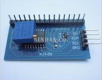 FREESHIPPING + 1 Pcs IIC/I2C/TWI/SPI Serial Interface Board Module For Arduino 1602 LCD Display