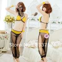 New arrival Sexy Lingerie Lady Sexy costume bikini set Sheer nightclubs DS costumes