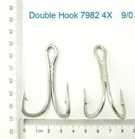 6 X Premium Quality Stainless Steel Fishing Double Hook 7982 Size 10/0, Tackle
