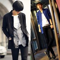 New 2013 Autumn and winter cloak personalized men's cloak fashion slim medium-long male trend Plus velvet trench outerwear male