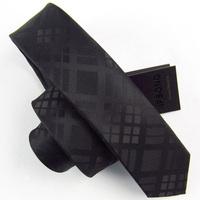 SALE Free Delivery Top Quality Ties For Men 2015 casual Narrow wedding tie slim 5cm black-matrix dark gray plaid Brand Necktie