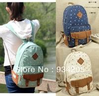 Fashion Girls Cute Nose Canvas Backpack Bag School Campus Bookbag Tote Handbag