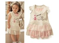 1pcs retail 2014 promotional price baby girl princess summer sleeveless dress kids clothing