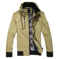 2013 autumn military slim jacket male 1216 p95 khaki