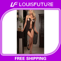 10pcs/Lot, 2014 New Long Dress, Long Dress, Sexy Lingerie, Sheer Nightgowns For Women, Factory, Wholesale, LD0001