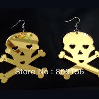 Europe Classic Popular Two Stone Acrylic Skeleton Skull Eearring Eardrop