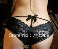 Free shipping 100% cotton low waist lace bow Seductive Little lady underwear wholesale 10pcs/lot