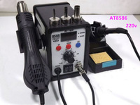 Hot !Free Shipping  by DHL 220V ATTEN AT8586 2 in 1 Hot Air Gun Solder Iron Rework Soldering Station