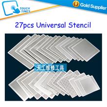 Freeshipping 27pcs BGA Reball Reballing Stencil Template Direct Heating Universal Stencil(China (Mainland))