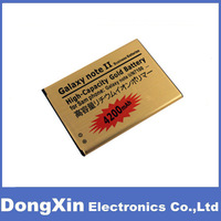 100PCS X 4200mAh Replacement Gold Battery for Samsung Galaxy Note 2 N7100,High Capacity,free DHL/EMS