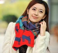 1Pcs new dual-sided deer long scarf shawl female thick winter scarves Bohemian A3213D