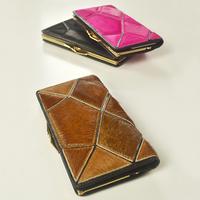 Free Shipping Horsehair patchwork women's long design wallet genuine leather sweet fashion vintage 2013 women's handbag