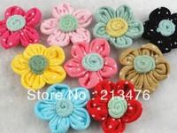 20PC Sewing Appliques cotton five flower baby Pick color